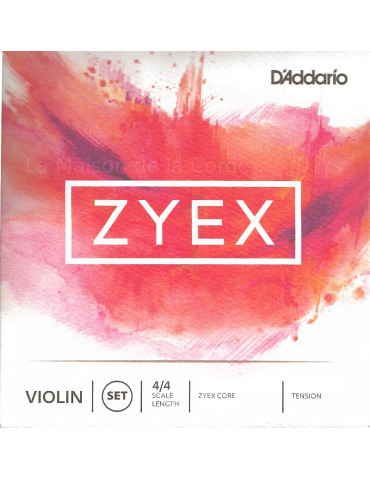 Jeu de 4 cordes avec Ré Argent Violon Zyex Composite