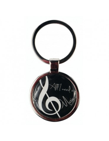 "Porte clef ""All you need is Music"""