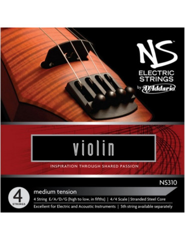 Jeu de 4 cordes Violon NS310 Electric