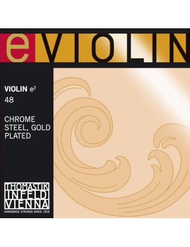 Corde Violon Special Programme e-violin MI acier chromé doré