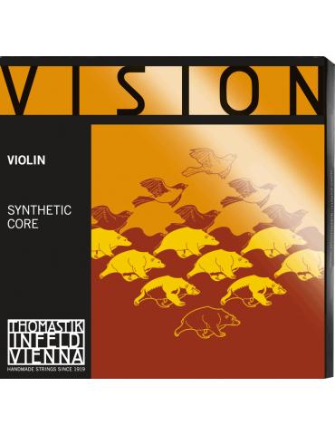 Jeu de 4 cordes avec Re Aluminium Violon Vision