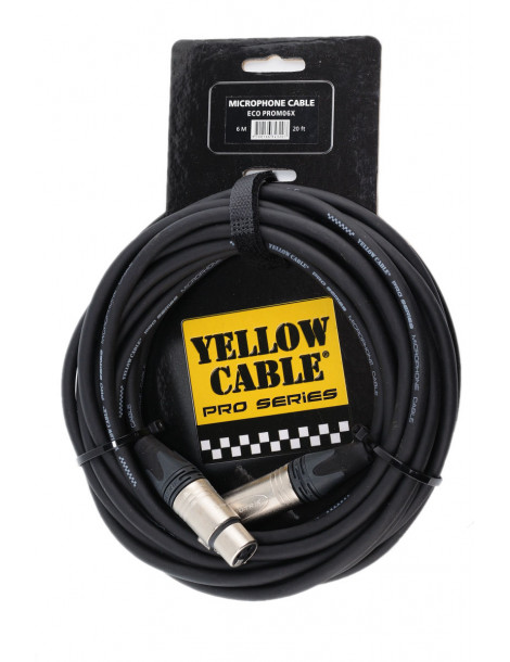 Cable XLR Professionnel Male/Femelle Yellow-Cable ECO-PROM06X