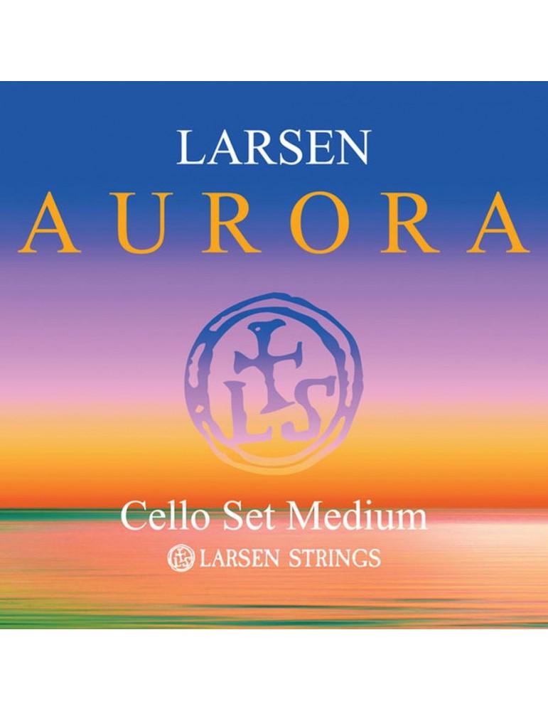 Jeu de 4 cordes Violoncelle Larsen Aurora