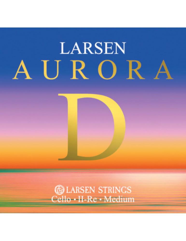 Corde Petit Violoncelle Larsen RE Aurora taille 1/16, 1/8, 1/4, 1/2 et 3/4