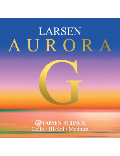 Corde Petit Violoncelle Larsen SOL Aurora taille 1/16, 1/8, 1/4, 1/2 et 3/4