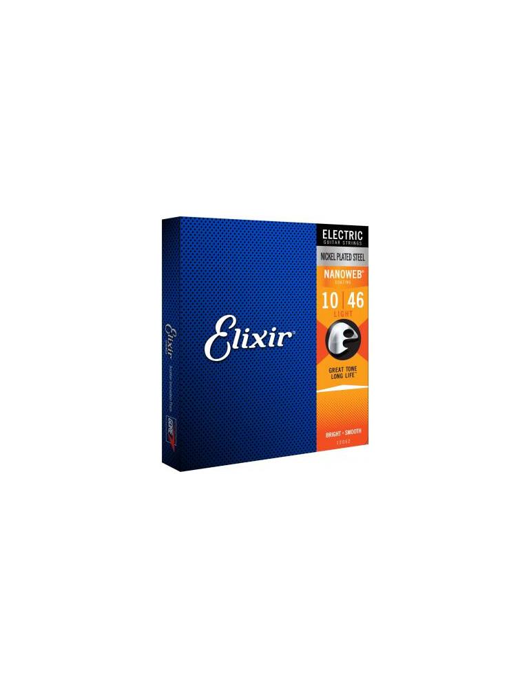 Jeux cordes Guitare electrique Elixir 12052 NANOWEB Light